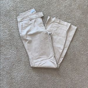 Gently worn woman's khaki pants .